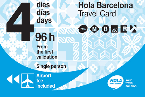 4 days unlimited Transportation card