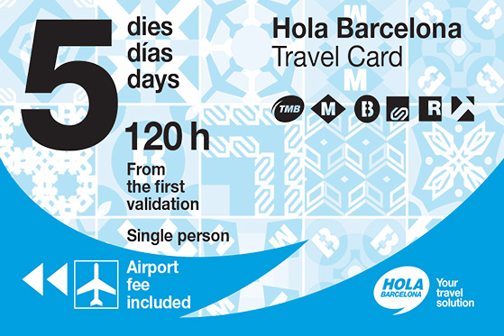 5 days unlimited Transportation card